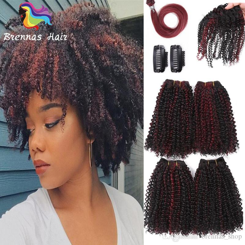 2018 Afro Kinky Jerry Curly Hair Extension Crochet Braids Human Hair