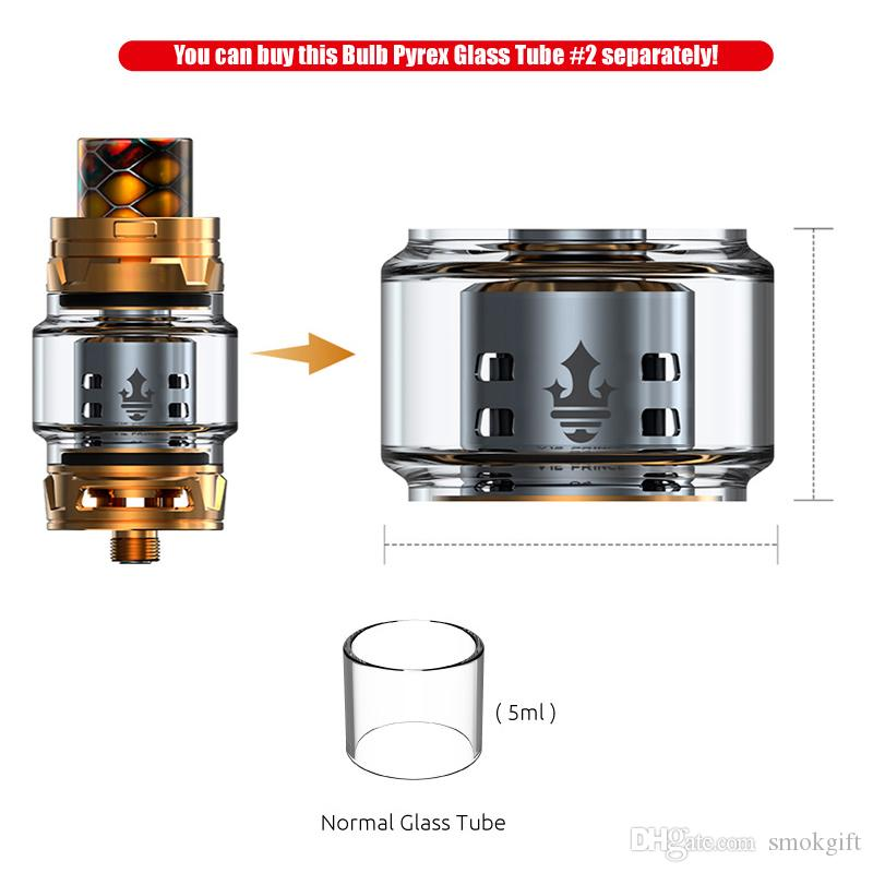 100% Authentic TFV12 Prince Cloud Beast Tank 8ml Big Capacity Sub Atomizer Wide Bore Drip Tip Fit V12 Q4 X6 M2 T10 Coils