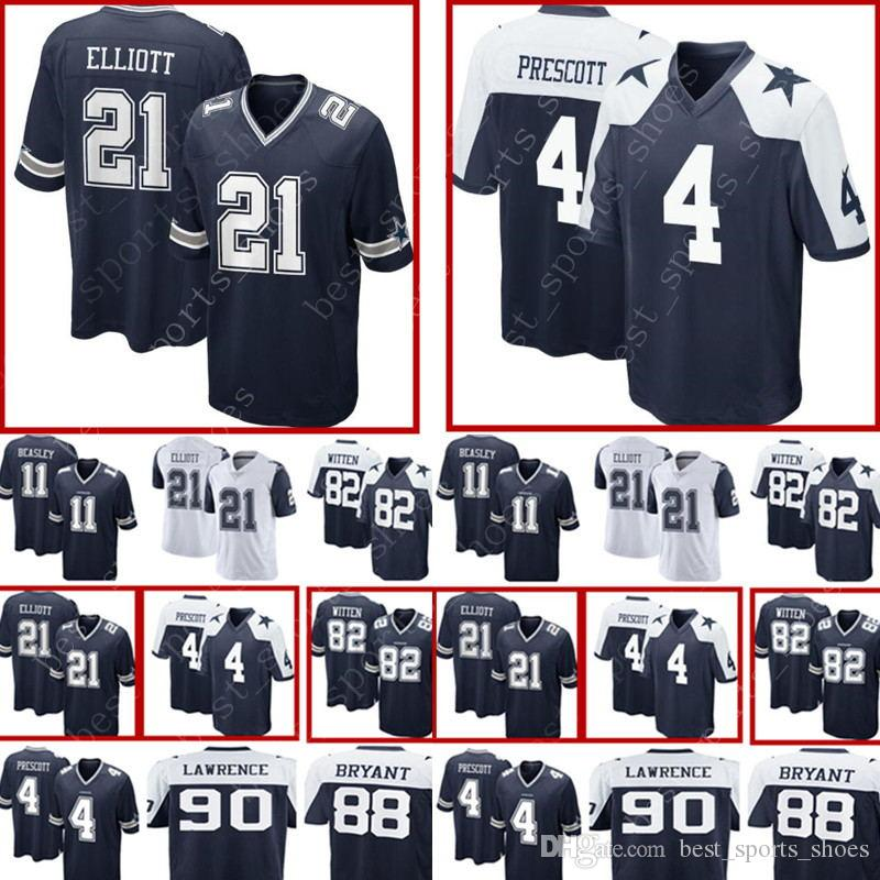 4 Dak Prescott 21 Ezekiel Elliott Dallas Cowboys Jersey Men s 82 ... 6ca2f977a