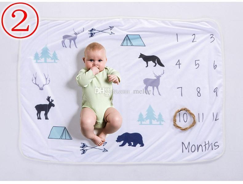 크리스마스 76 * 102CM 신생아 사진 배경 소품 아기 사진 소품 꽃 무늬 사슴 인쇄 배경 아기 유아용 담요 담요 부드러운 포장
