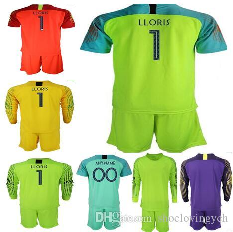 7581e37b8 2019 2 Stars World Cup KIDS Adult Goalkeeper Jerseys  1 LLORIS Long Sleeve  Goalie T Shirt Kits KID Uniforms Children Goalkeeper Jerseys From  Shoelovingych
