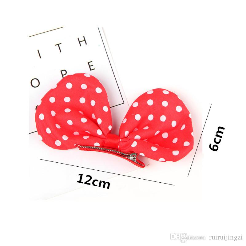2018 Dog Grooming Pet hair clip Large wave point Bows Teddy Yorkshire Maltese flower Dog hairpin cute princess clip