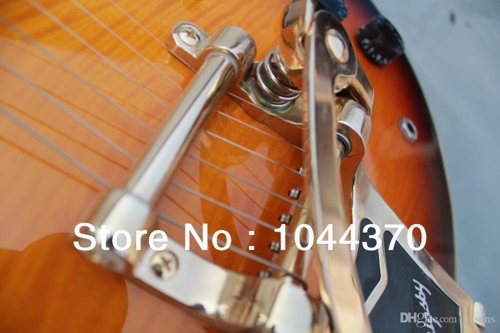 Vintage Sunburst 335 jazz Hollow guitar Musical Instruments Tremolo