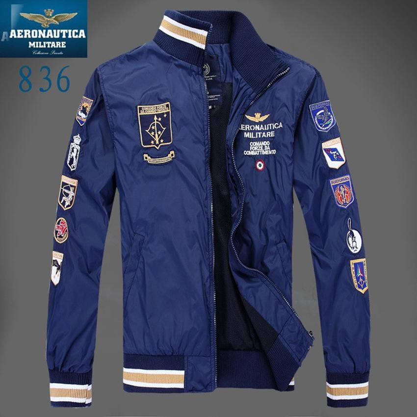 Compre Aeronautica Military Jackets Hombres Polo Air Force One Chaquetas  Marca Italia Chaquetas De Verano   Primavera Chaqueta Hombres Ropa Z  D18101106 A ... 06c15256c195d