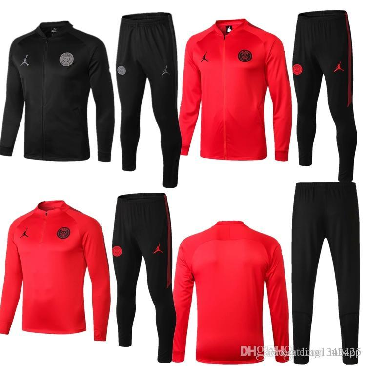 2019 Ensemble Maillot 19 18 Mbappe 20118 Sportswear Cavani Football Psg New Noir De Home Jogging BQhCtrdxs
