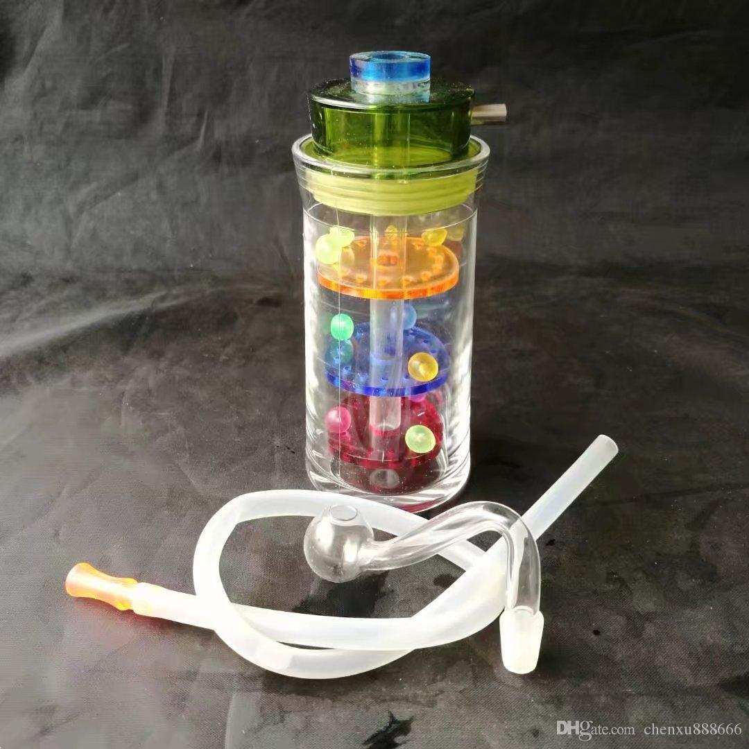 Три слоя фильтр бутылки с водой ,Оптовая бонги масляная горелка трубы водопровод стеклянные трубы буровые установки для курения Бесплатная доставка