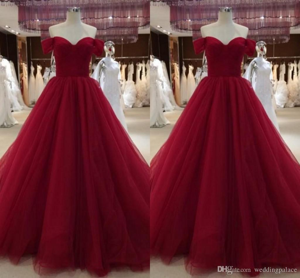 2c683c9cfc5 New Sweetheart Neck Quinceanera Dresses With Capped Sleeves Tulle Ball Gown  Sweet 16 Dresses Sweep Train Prom Gowns Sparkle Prom Dresses Teen Prom Dress  ...