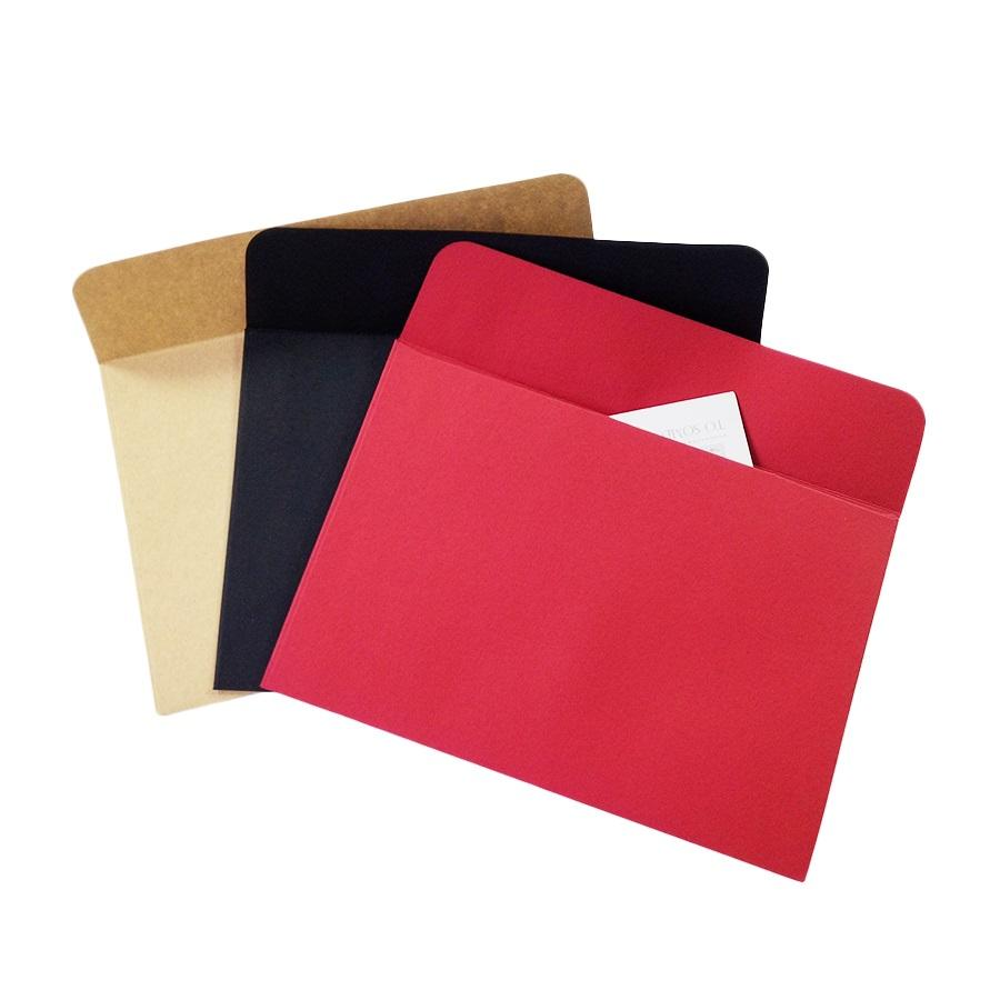 2018 black red kraft paper envelopes diy multifunction for card