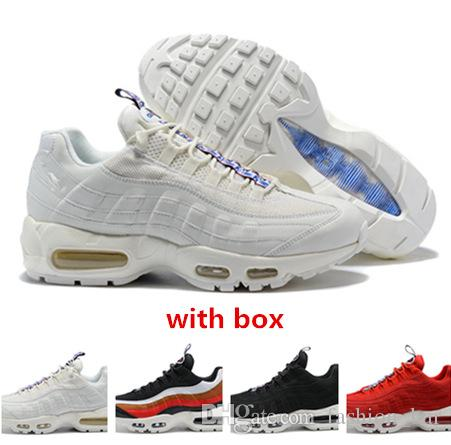95 TT Pull Tab triple white red Running Shoes 95 sneaker trainer best quality sports shoes free shipping
