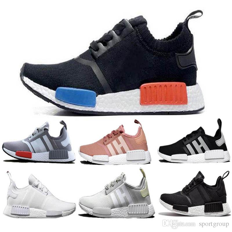 1cb19f031 Free Shippig New Pink Red Gray NMD Runner R1 Primeknit PK Low Men S    Women S Shoes Classic Fashion Sport Shoes Us5.5 11 Sneakers Shoes Geox Shoes  From ...