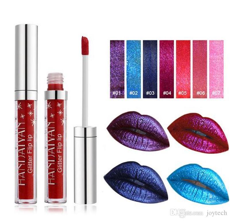 HANDAIYAN Lip Gloss i diamante brillare rossetto metallico a lunga durata liquido glitte lip gloss cosmetici impermeabile dhl libera il trasporto