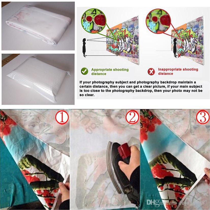 Vinyl Individuelle Fotografie Kulissen Prop Digital gedruckte Innen- und Außen + Brick Wall Thema Foto-Studio-Hintergrund FD-2583