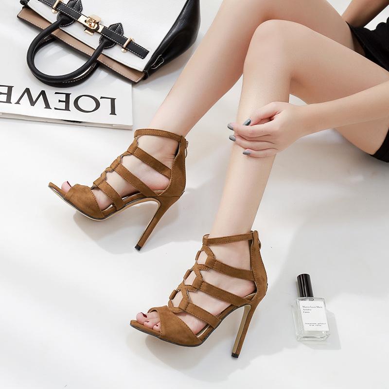0fbb859664b Compre Zapatos De Fiesta Para Damas Para Mujer Tacones Zapatillas De Tacón  De Aguja De Corte Moda Mujer Piel Highshoes Mujer Tacones Gruesos Gg Mujeres  A ...