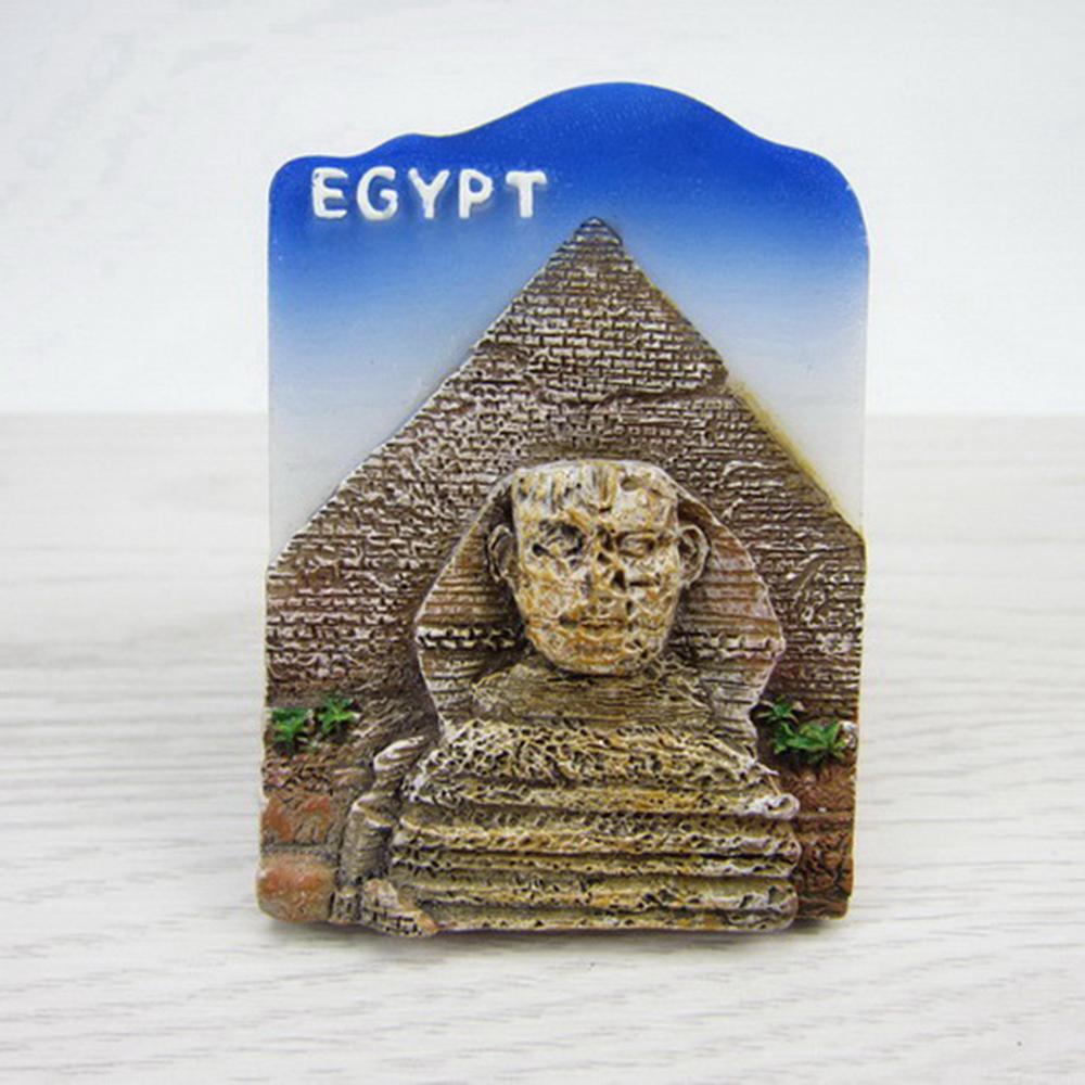 egypt tourist souvenirs fridge magnets sphinx resin refrigerator
