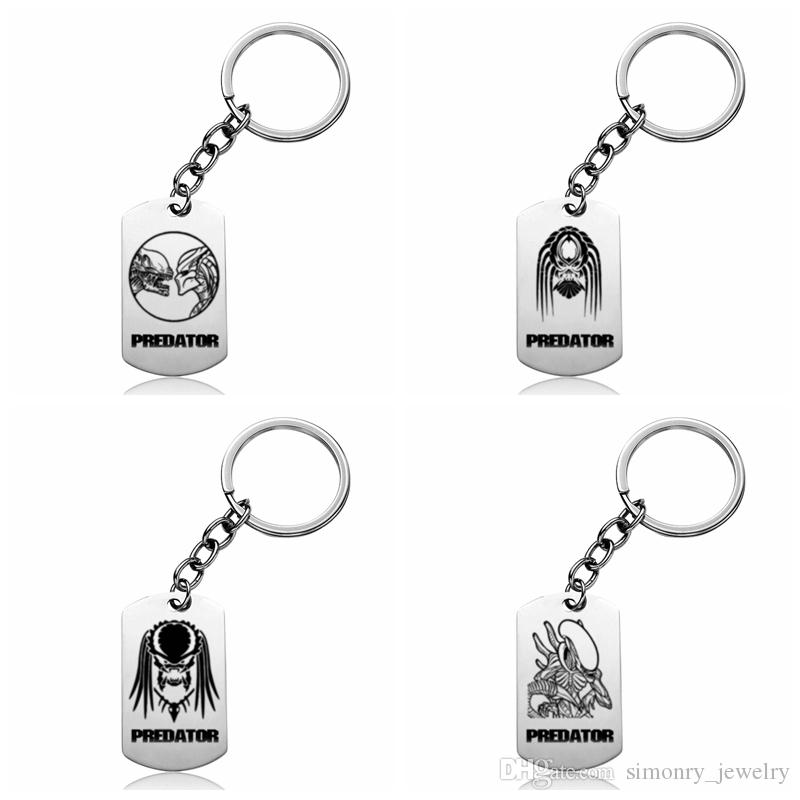 Predator Keychains Stainless Steel Hot Movie Printing Keyrings Silicone  Silver Men And Women Fans Gift New Pattern Popular Jewelry Wholesale Key  Wallet Key ... a48b93ed0