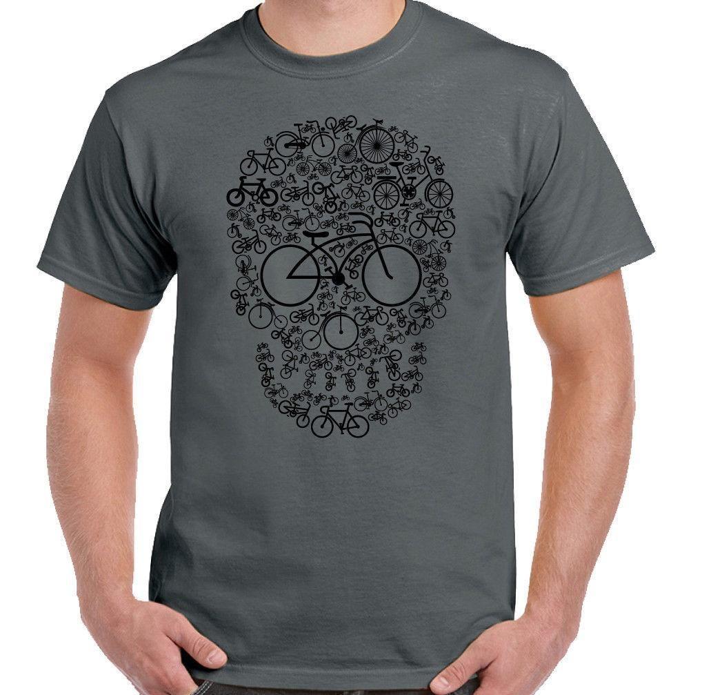 16da3a06b Bicycle Skull Face Mens Funny Cycling T Shirt Cyclist Cycle DH MTB Racer  Bike Quirky T Shirts Hilarious Shirts From Yuxin002, $13.8| DHgate.Com