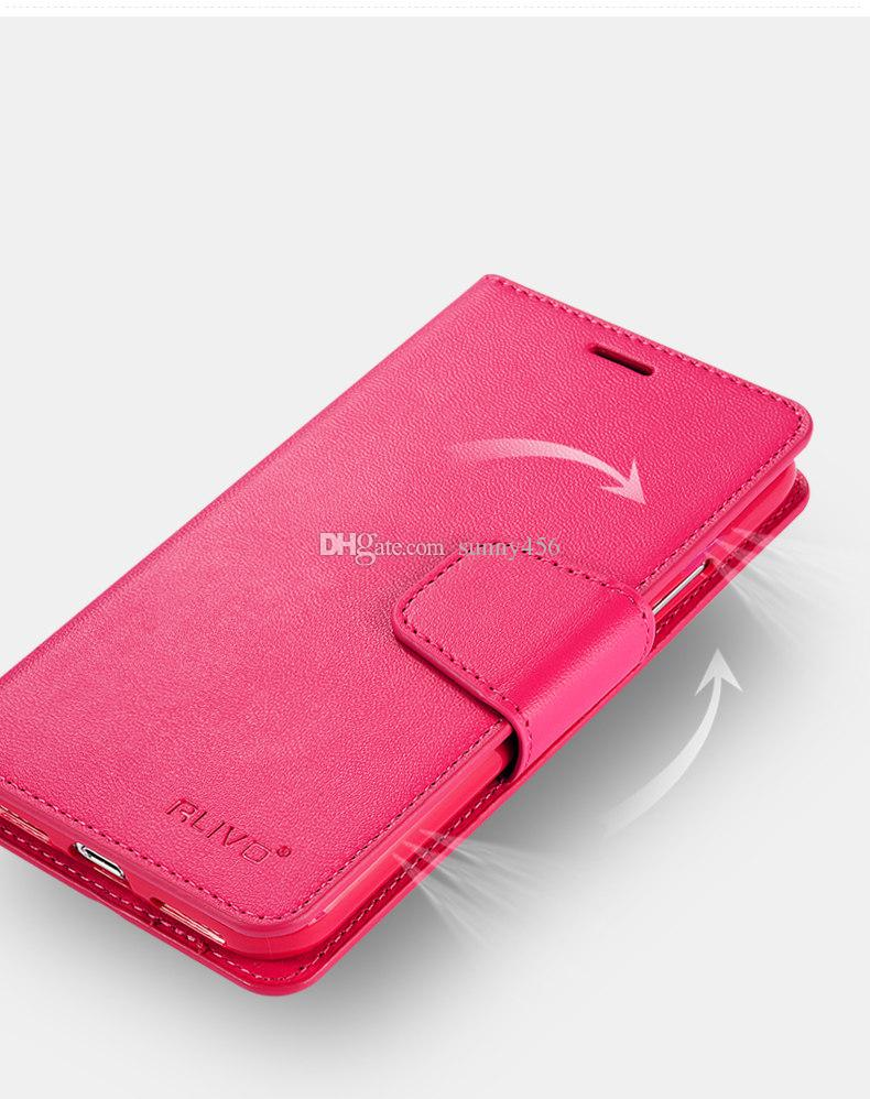 2018 For iphone X 7 Plus S8 S9 Real Genuine Leather Wallet Credit Card Holder Stand Case Cover For iphone 8 5 6S