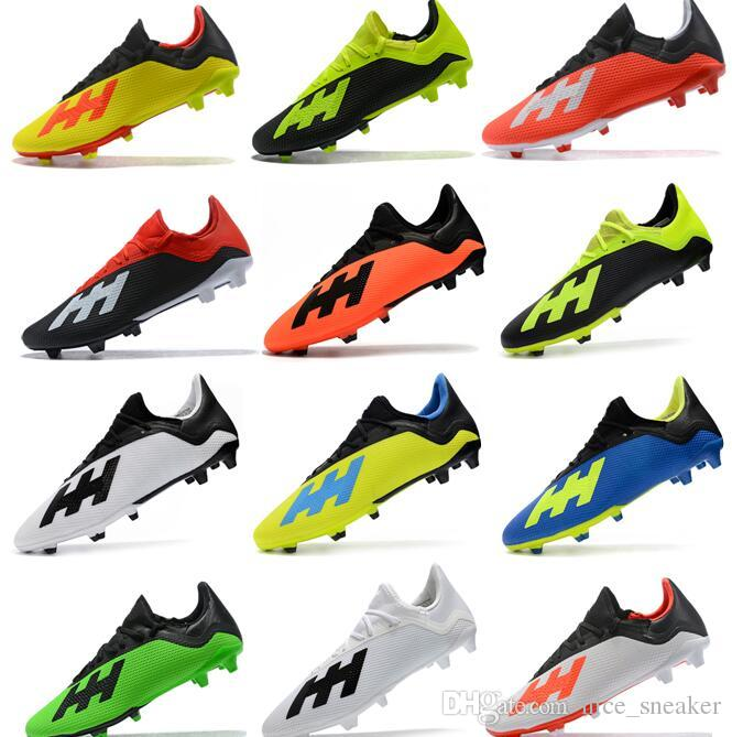 a9fca1fb12a 2019 2018 Cheapest New Mens Low Ankle Football Boots X 18 FG Soccer Shoes X  18+ Speedmesh X18 Messi Speed Mesh Outdoor Soccer Cleats From Nice sneaker