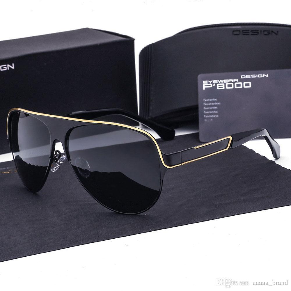 f4510ef4e8a ... Designer Aluminum Magnesium Polarized Sunglasses Men Driving Sun Glasses  Goggles Eyewear For Male Oculos 8580 With Cases And Box Round Sunglasses  Cheap ...