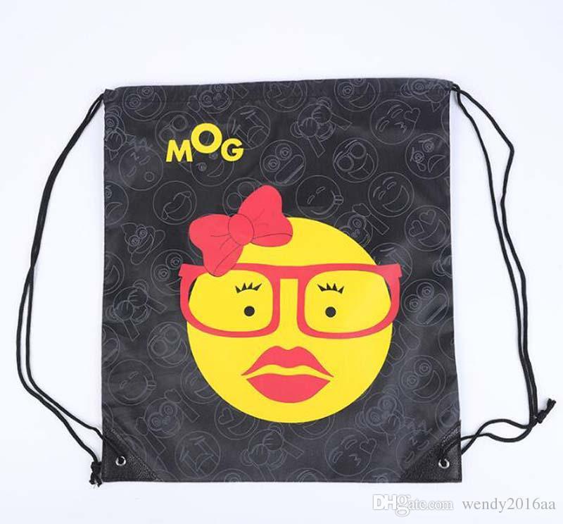 Новая мода Emoji Оксфорд Drawstring рюкзаки водонепроницаемый сумки для хранения унисекс путешествия пляж рюкзак сумка