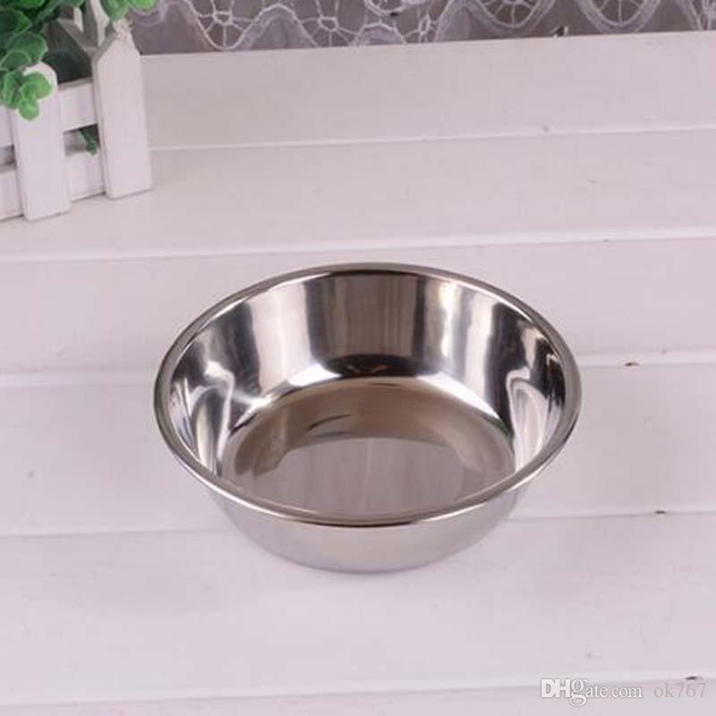 Suministros para mascotas Perro Bowl Doble acero inoxidable Plástico Comida para gatos Comer Tazones Contenedor de agua para perros