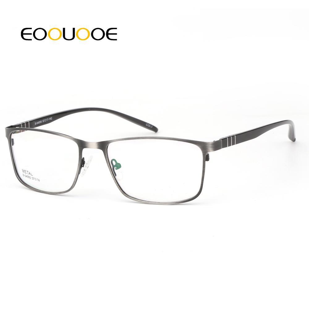 b86be5f52e Compre EOOUOOE 2018 Hombres Gafas Ópticas De Metal Marco Completo Hombres  Gafas Recetadas Miopía Gris TR90 Gafas De Grau Feminino Gafas Masculinas A  $28.08 ...