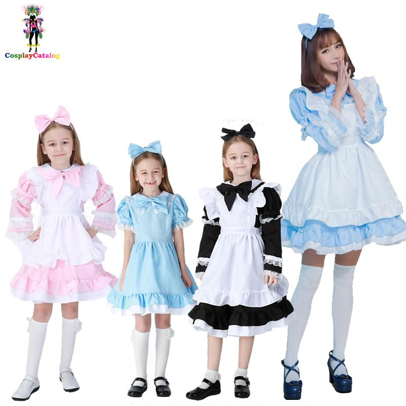 4fa22dd4068 Black Pink Blue Alice In Wonderland Halloween Costume For Women