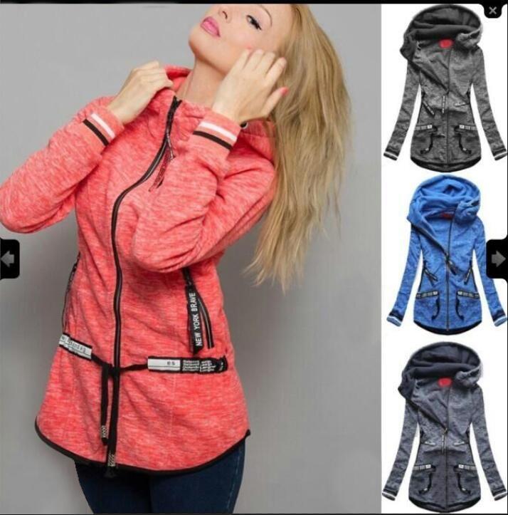 9ada2f0a6 2019 Women Slim Fit Autumn Hoodie Hooded Fashion Clothing Spring Sweatshirts  Zipper Designer From Malewardrobe, $65.38 | DHgate.Com
