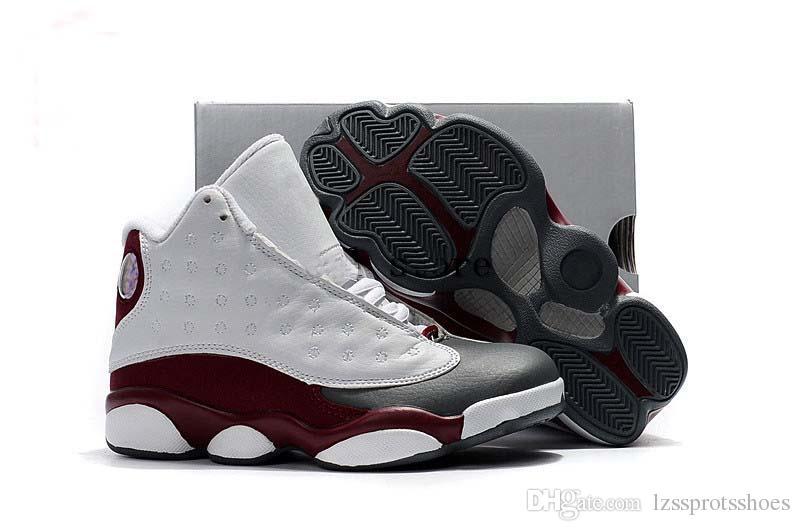 d75b5411c445 Kids 13 Grey Pink Black White Boys Girls Youth Basketball Shoes ...
