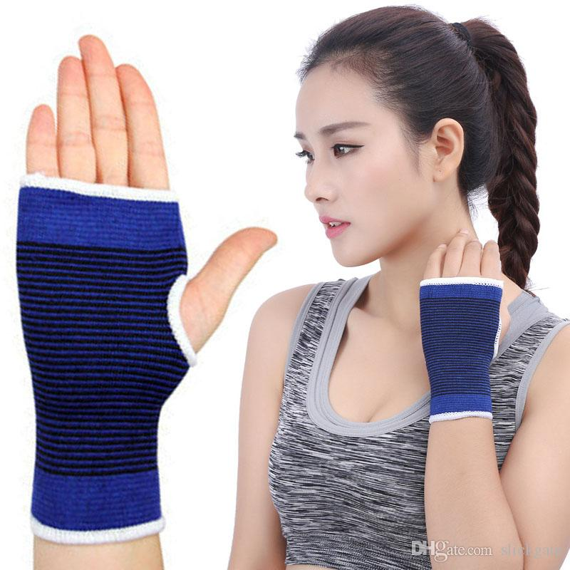 Newest Elastic Brace Gym Sports Support Wrist Gloves Hand Palm Gear Protector For Volleyball Basketball Support FBA Drop Shipping G911Q