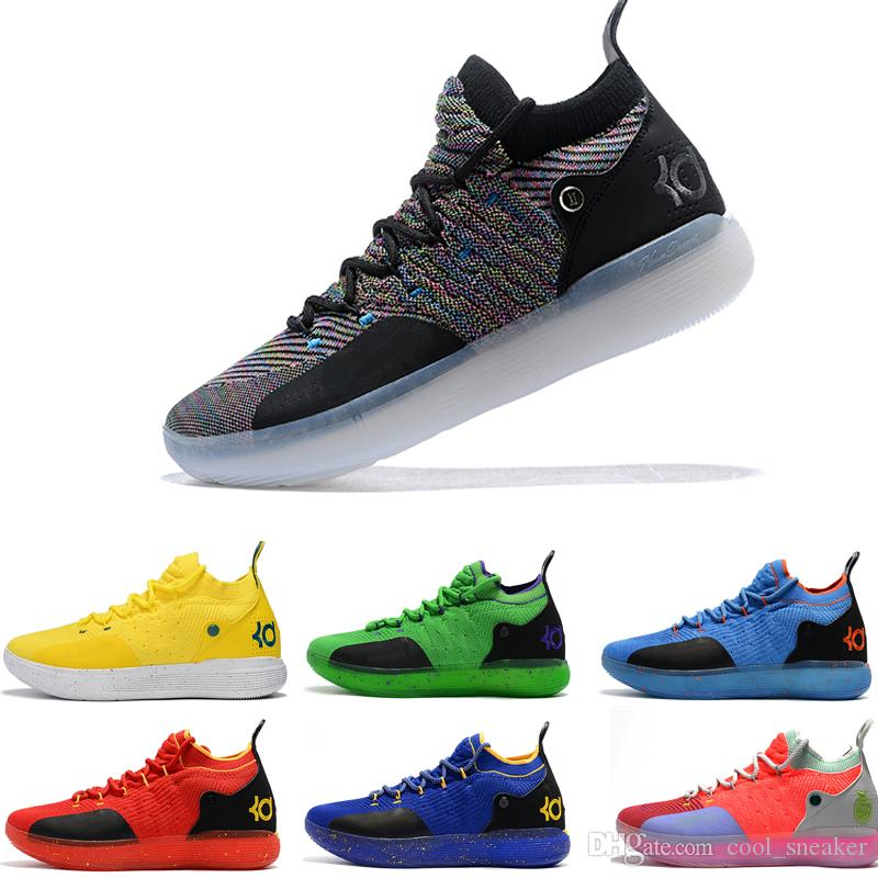 9d1b65960f65 Newest ZOOM KD Kevin Durant 11 XI Seattle Paranoid Emoji Cool Grey Triple  Black Elite For Mens Basketball Shoes Athletic Sport Air Sneakers Sneakers  Men Buy ...