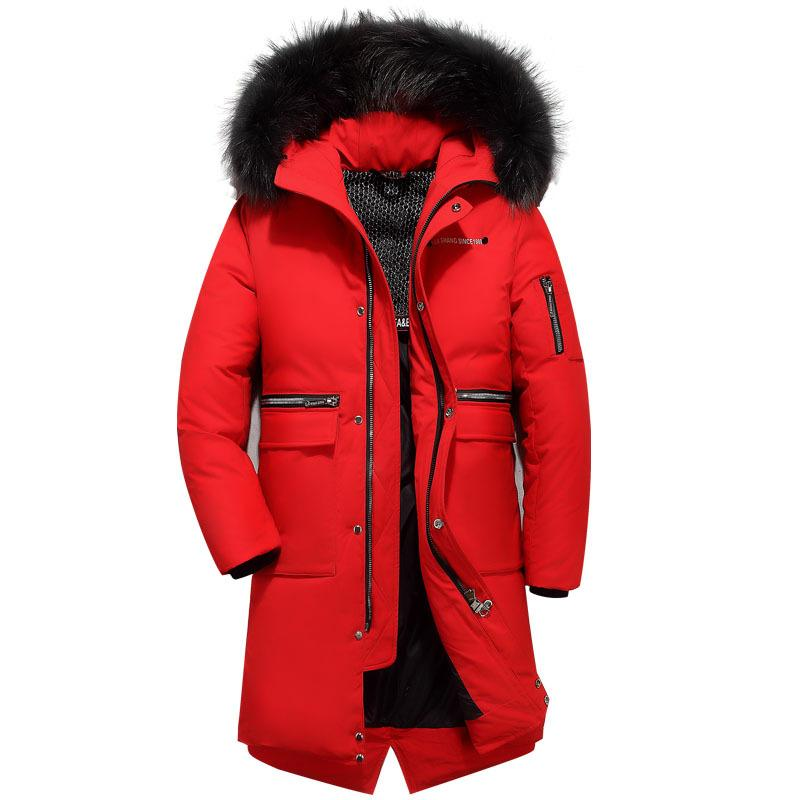 41225c36b 2019 New Thicken Warm Winter Duck Men Long Down Coat Parkas Outwear ...