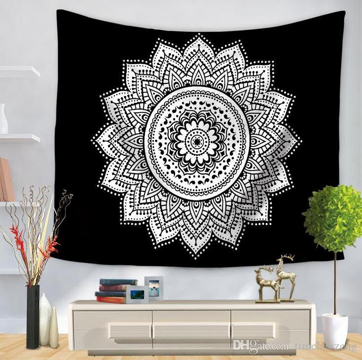 Polyester Indian Mandala Tapestry Wall Art Hanging Carpet Beach Towels Decorative Blankets Tablecloths Home Decor Accessories Smart Home