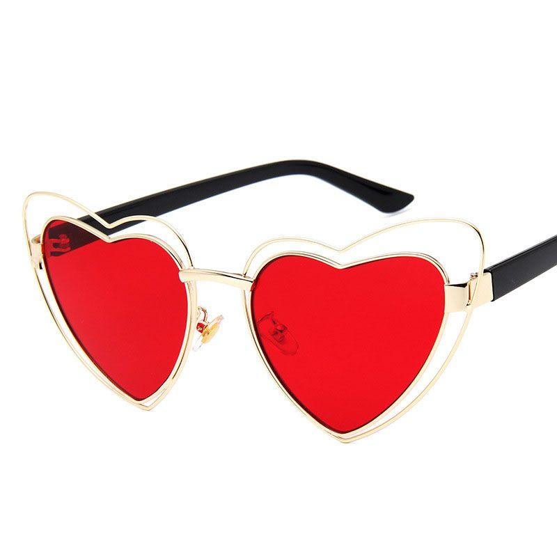 3b50289bc77dd6 Fashion Women Heart Sunglasses Brand Designer Female Sun Glasses Oculos  Lunette Femme Love Eyewear Retro Vintage Shades Glasses Brand Sun Glasses  Designer ...