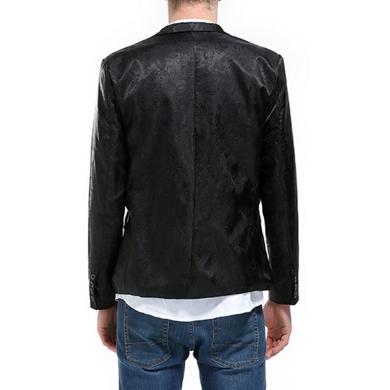 LASPERAL Brand 2018 Hot Sale Blazer Men One Button Men Blazer Slim Fit Costume Homme Suit Jacket Masculine Blazer Outwear M-XXL