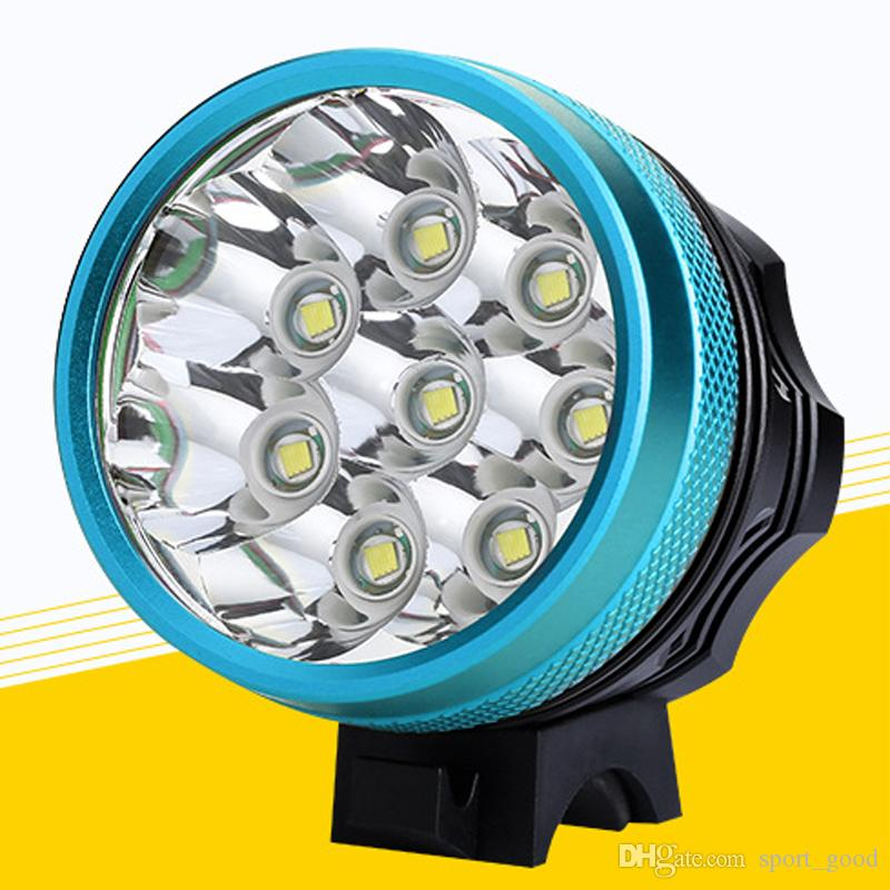 9000 Lumen 8 T6 LED Super helles Fahrrad-Lampen-Licht-Scheinwerfer-wasserdichtes Fahrrad-Licht des Fahrrad-LED mit Batterie 6 * 18650