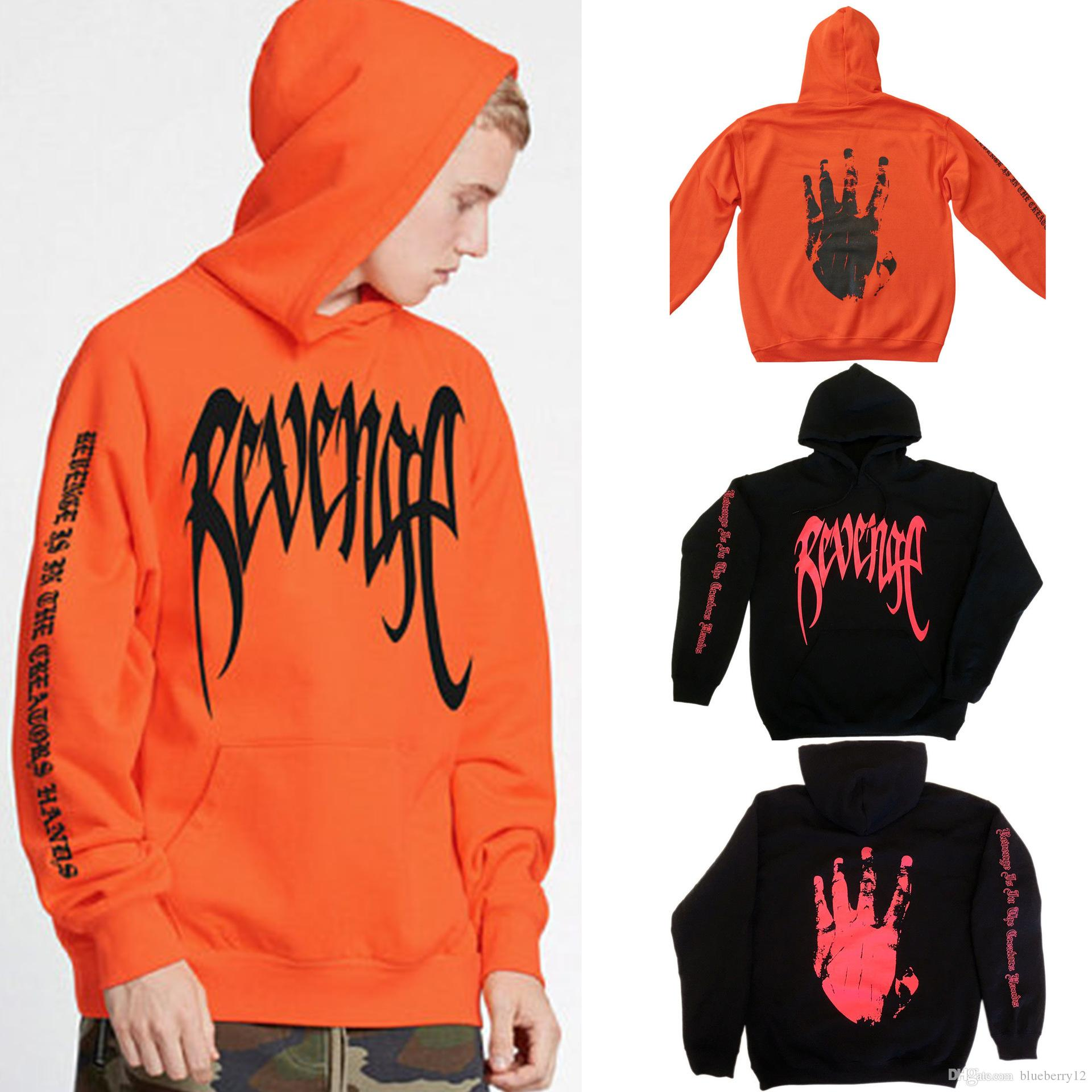 ad2d280a4c3 2019 REVENGE KILL HOODIE Hip Hop Pullover Mens Tentacion Bad Vibes Forever  Sweatshirts Cool Streetwear Hoodies From Blueberry12