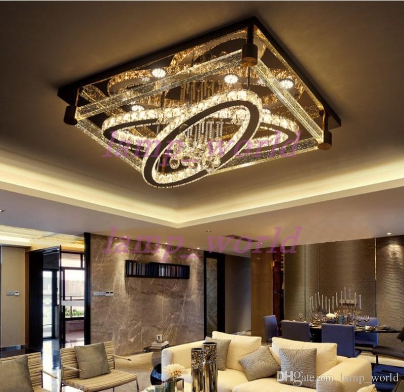 Großhandel Einfache Moderne Kreative Rechteckige Deckenleuchte Oval Led  Kristall Lampen Wohnzimmer Restaurant Schlafzimmer Hotel Deckenleuchten  Beleuchtung ...