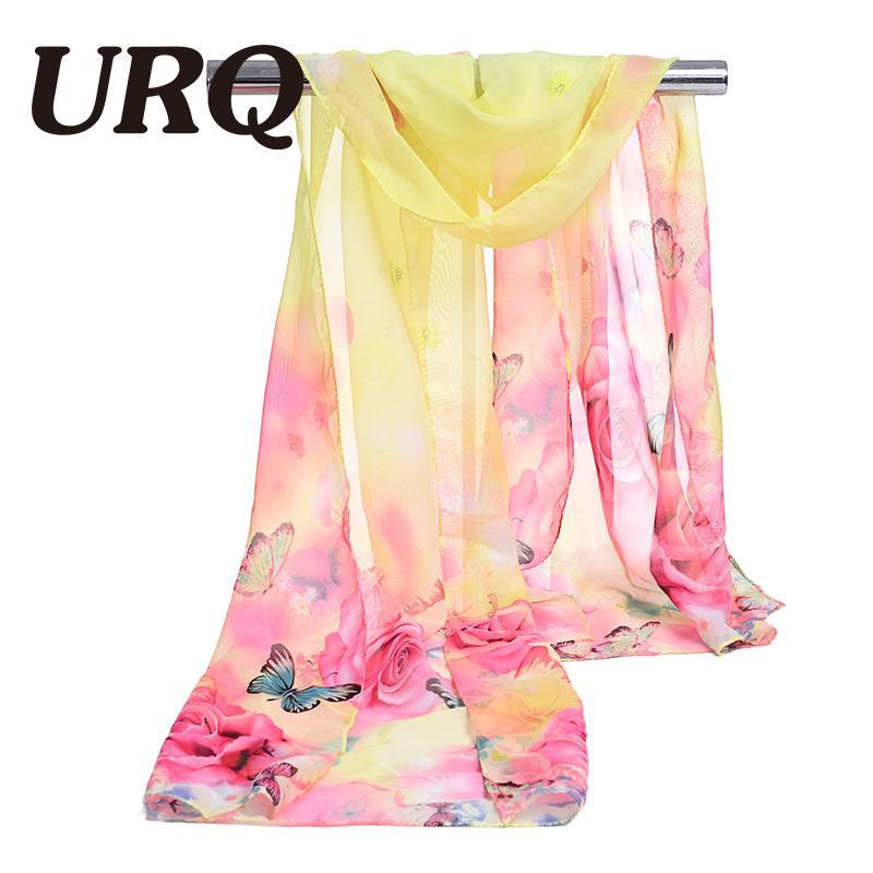 chiffon scarf print foulard women's scarf silk lady brand design spring summer patterns cape shawl wrap cachecol feminino
