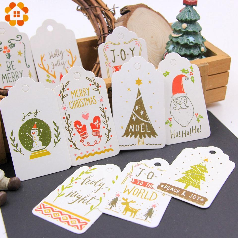 Großhandel 50 Teile / Los Diy Frohe Weihnachten Papier Tags Handwerk ...