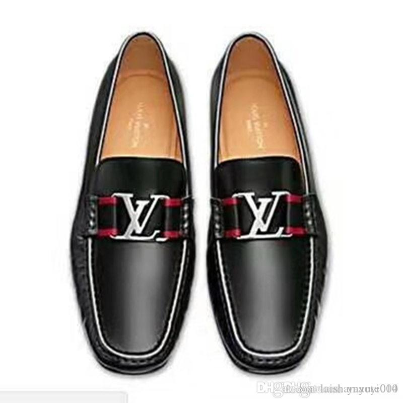 86b2ab06d394b0 Top Size 38 45 Men Wedding Shoes Luxury Designers Red Bottom Loafers  Business Dress Shoes