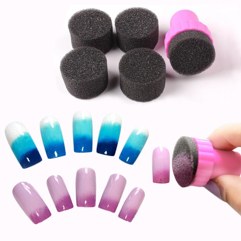Lucky Color Nail Art Sponge Stamp Stamping Polish Template Transfer Sticker DIY Tool Wall Decals Stickers And From Chiccheek