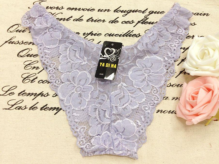 Hollow-Out bestickt Lace Briefs Floral Body Briefs für Damen