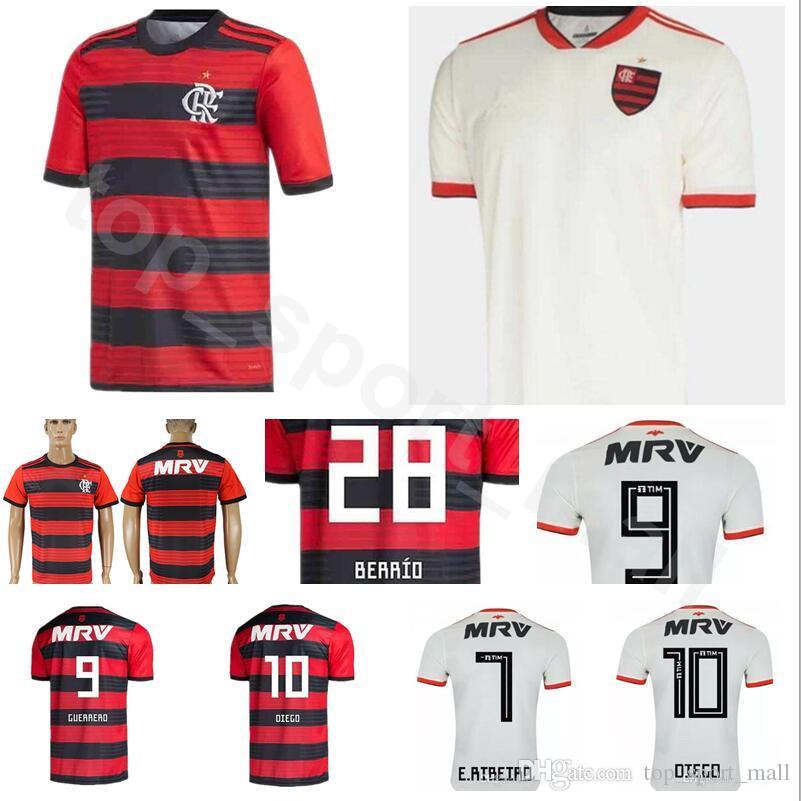 638a5ff6 2019 FC CR Flamenco Soccer Jersey Men Red White 6 RENE 7 RIBEIRO 15 REVER 1  DIEGO ALVES Goalkeeper GK Football Shirt Kit Uniform From  Dickssportinggoods, ...