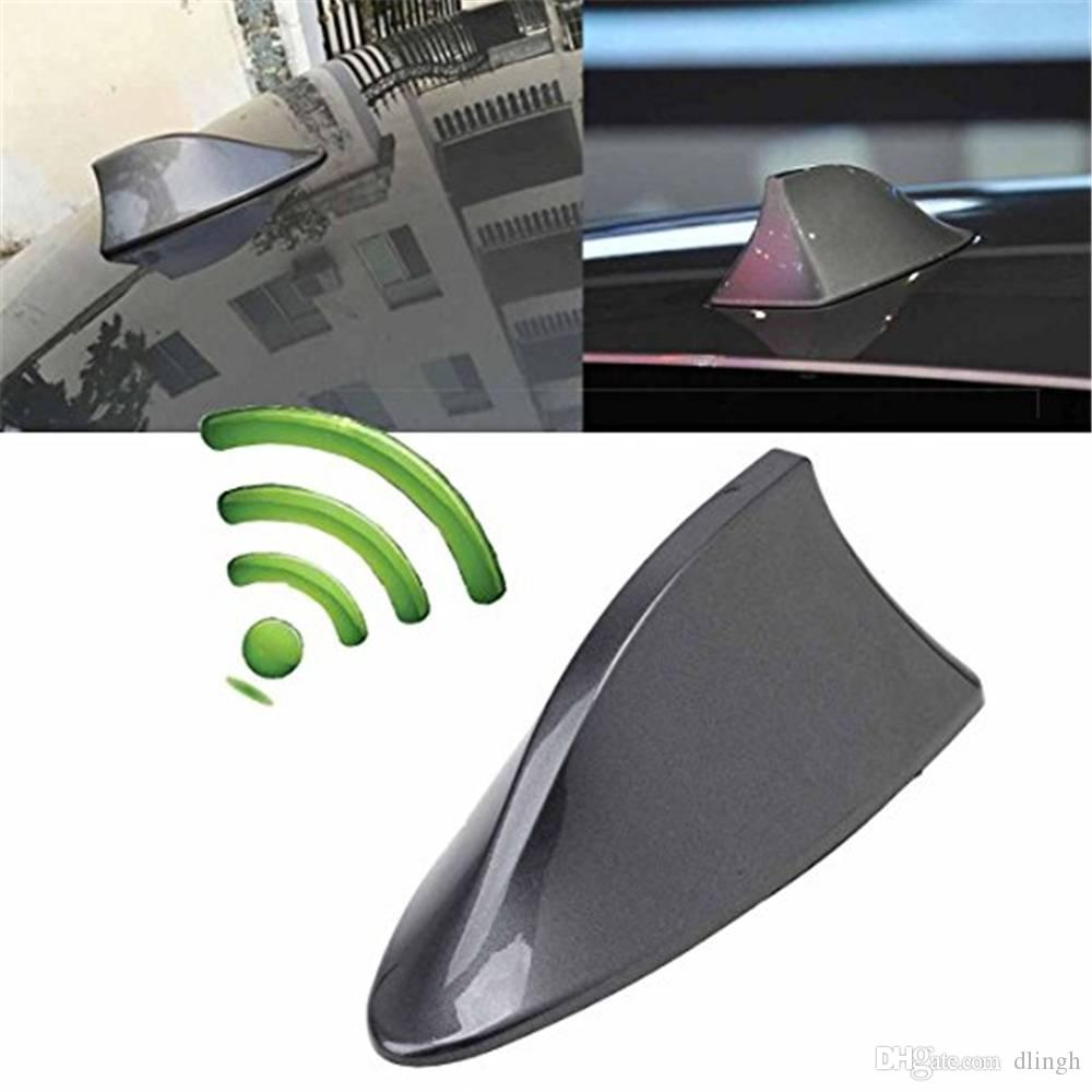 2019 Hot Shark Fin Antenna Stereo Cover Car Signal Radio AM// FM Aerial White
