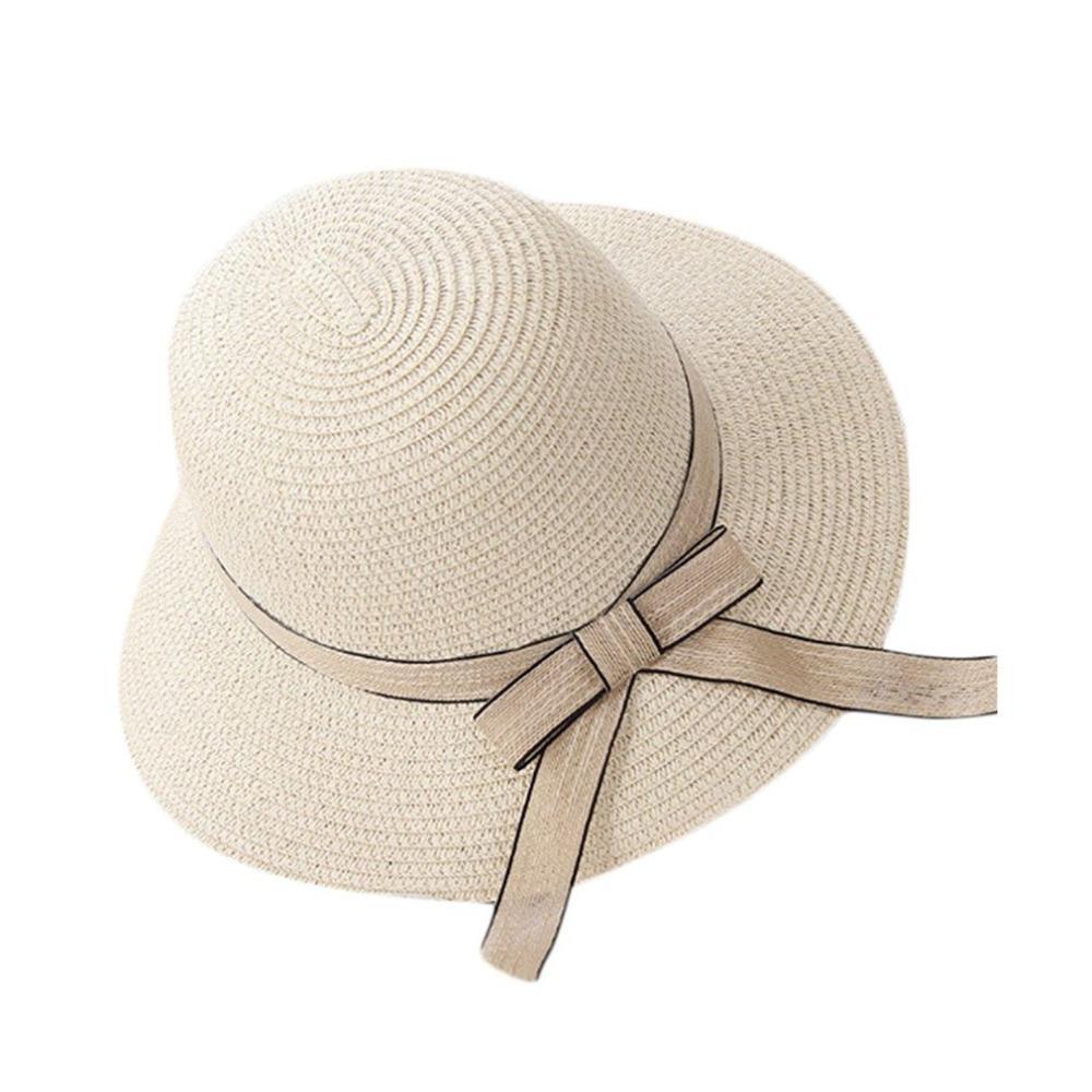 1049f516e40 2017 Summer Autumn Vacation Travel All Match Women Straw Hat Fisherman Hat  Outdoor Beach Sun Sunscreen Ribbon Decoration Flat Bill Hats Beach Hat From  ...