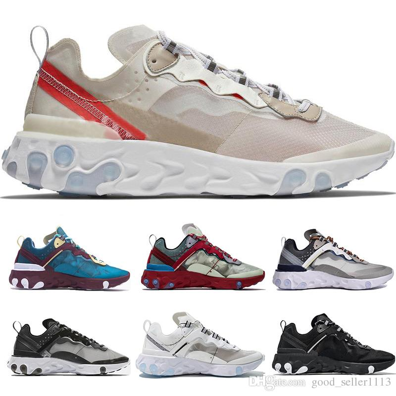 watch dd853 b1bae New Epic React Element 87 Undercover Men Women Running Shoes Beige White  Black Red Blue Luxury Sports Sneakers Size 36 45 Canada 2019 From  Good_seller1113, ...