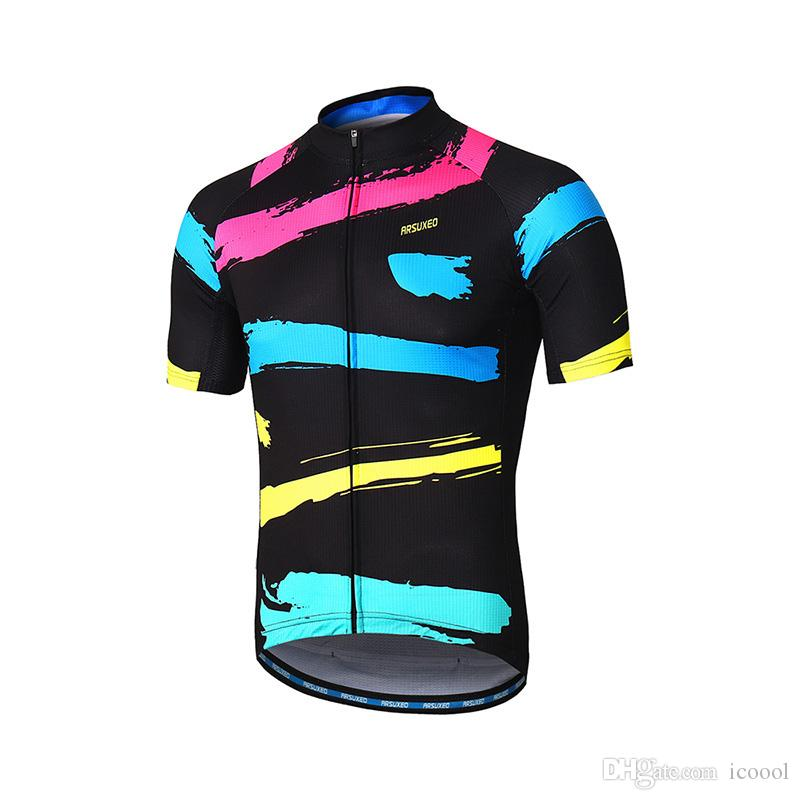 Wholesale Cycling Jersey Men Short Sleeve Tops Summer Riding Cycling ... afa1f18a6