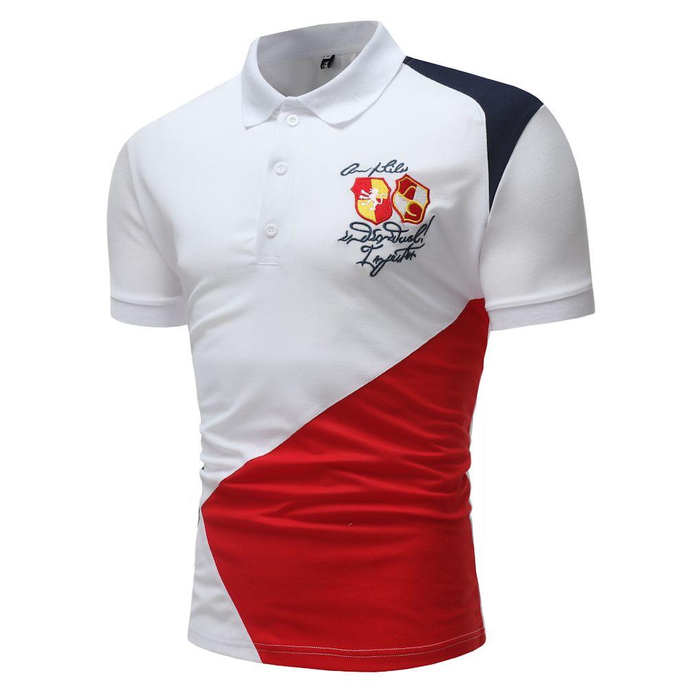 2019 2018 Mens Polo Shirt Top Embroidery Horse Polo Shirts Cotton