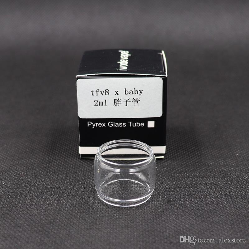 تمديد تمديد أنبوب زجاج لمبة الدهون ل TFV12 Prince Big baby لفائف RBA Cleito 120 TFV8 X-baby تحديث مع حزمة واحدة